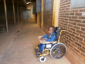 The family of this child were delighted with the receipt of a wheelchair, enabling their child to access school for the first time.