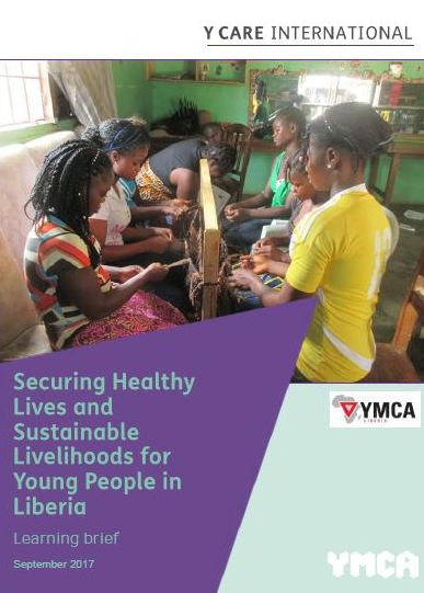 Image of Y Care International's learning brief on building resilience into project designs and budgets