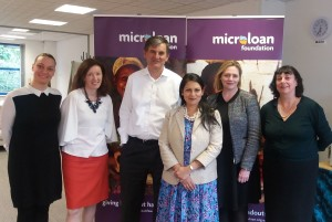 Priti Patel with MicroLoan Foundation staff