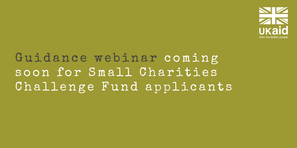 Webinar for Small Charities Challenge Fund (SCCF) applicants